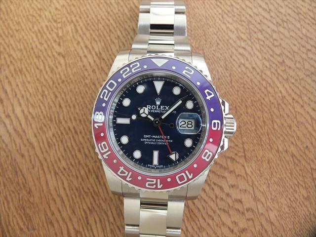 ロレックス GMTマスターⅡ ブルー文字盤 Ref.116719BLRO