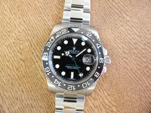 ロレックス GMTマスターⅡ スティックダイヤル V番 Ref.116710LN