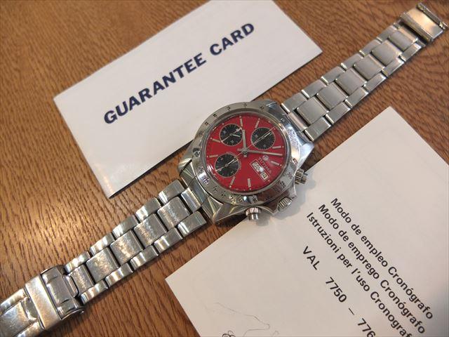 TUTIMA グラスヒュッテ 7750 赤文字盤