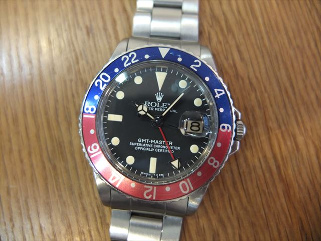 ロレックス GMTマスター Ref.1675 赤青ベゼル