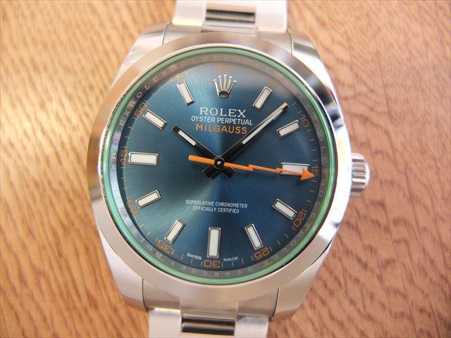 ロレックス ミルガウス Ref.116400GV Zブルー