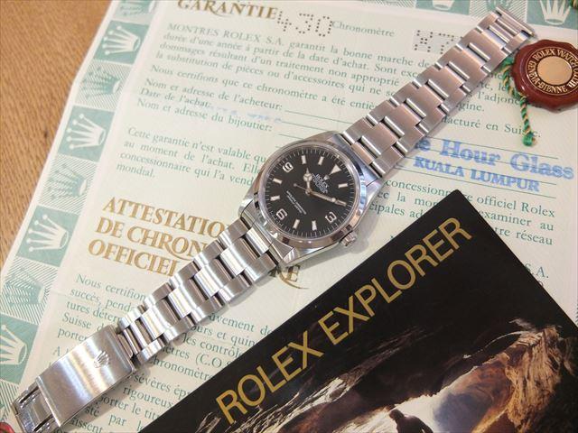ロレックス エクスプローラⅠ 先端ドット X番 Ref.14270