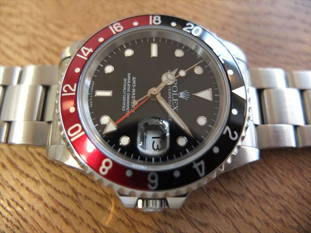 ロレックス GMTマスターⅡ S番 トリチウム 赤黒 Ref.16710