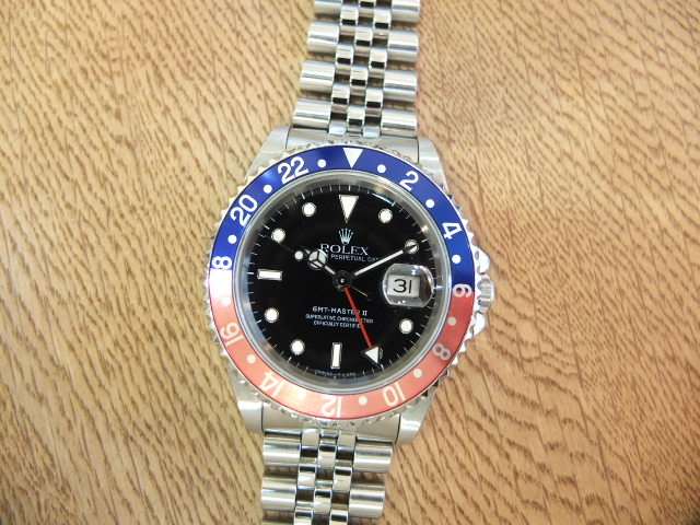 ロレックス GMTマスターⅡ X番 青赤ベゼル ジュビリーブレス Ref.16710