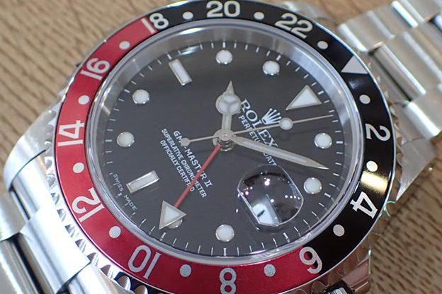 ロレックス GMTマスターⅡ P番 赤黒ベゼル Ref.16710