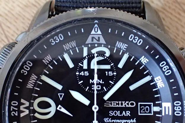 セイコー ソーラークロノグラフ アラーム V172-0AL0