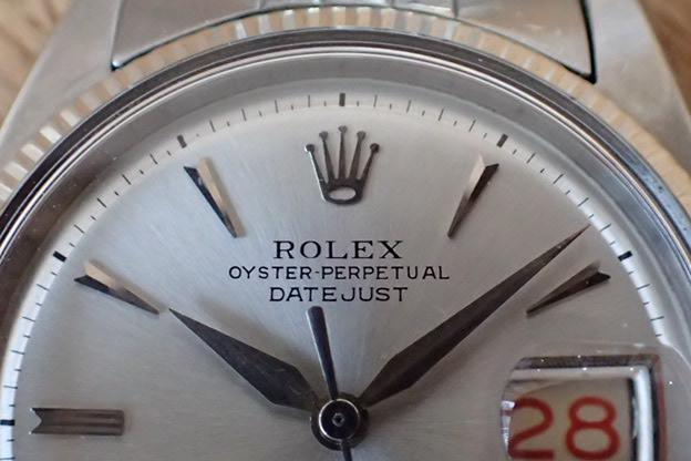 ロレックス デイトジャスト Ref.6605 赤黒カレンダー