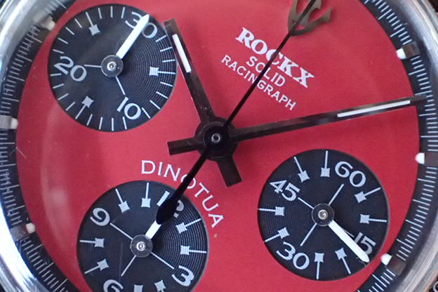 ROCKX SOLID RACINGRAPH DINO 赤文字盤
