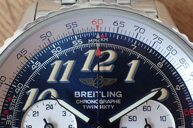 ブライトリング ツインシックスティⅡ 青文字盤 A39022.1
