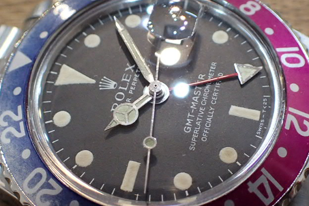 ロレックス GMTマスター ロングE バイオレットベゼル Ref.1675