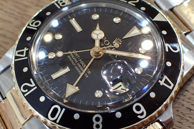 ロレックス GMTマスター フジツボ 黒文字盤 Ref.1675/3