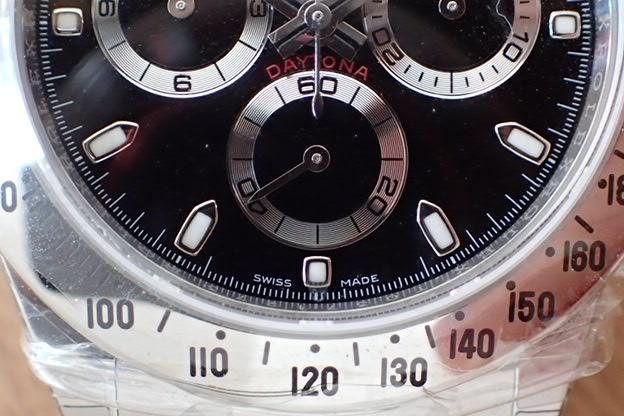 ロレックス デイトナ Ref.116520 黒文字盤 鏡面バックル 未使用品