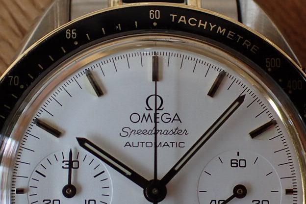 オメガ スピードマスター オートマチック コンビ 白文字盤