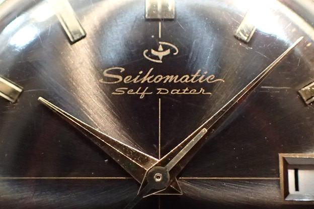 セイコー セイコーマチック セルフデータ 黒文字盤