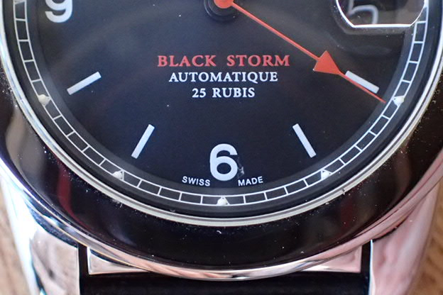 MHR マハラウオッチ  BLACK STORM 黒文字盤